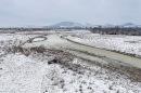 The river Agri in february 2019 / il fiume Agri nel febbraio 2019