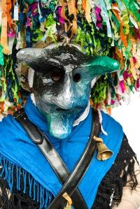 Aliano (MT), a horned mask / una maschera cornuta