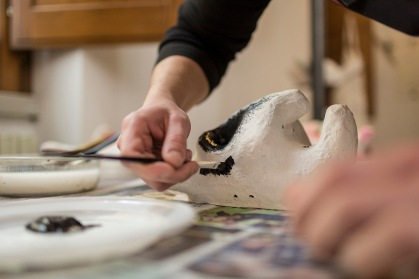 Aliano (MT) preparation of the masks / fabbricazione delle maschere