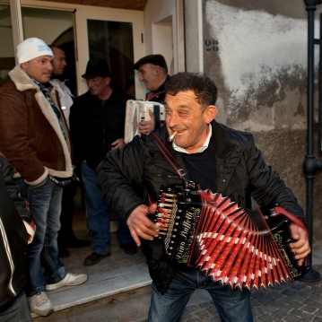 San Mauro Forte (MT) during the Carnival (I Campanacci) - momenti del Carnevale con la sfilata dei Campanacci.